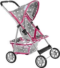 Kinderplay - sillas de Paseo - Carrito para muñecas, Cochecito de Paseo, Parasol, Buggy, KP0280S