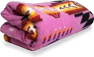 Nu Trendz Southwest Design (Navajo Print) Comfy Fleece Throw Blanket (Pink)