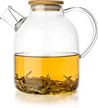Tealyra - Glass Stove-top Kettle 60-Ounce - Teapot - Heat Resistant Borosilicate - Pitcher - Carafe - No-Dripping - for Tea Juice Water - Hot or Iced - 1800ml