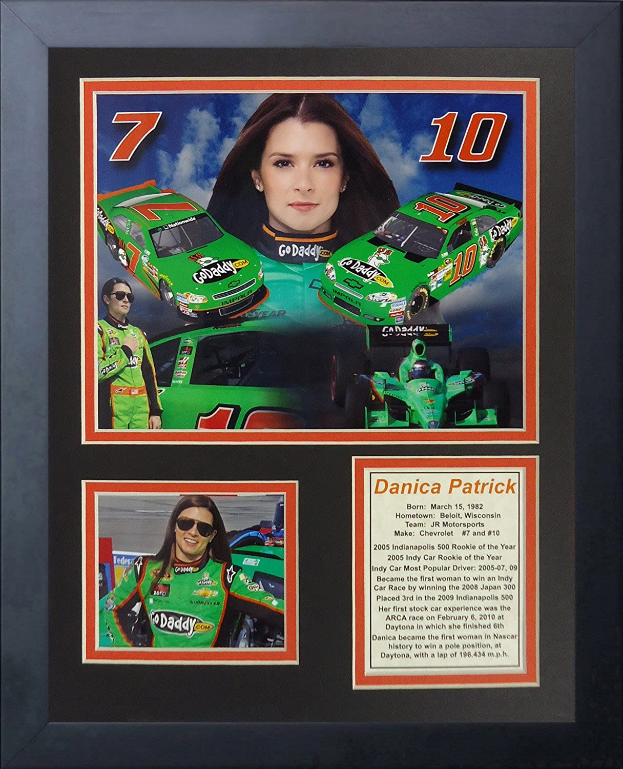 Legends Never Die Danica Patrick  Framed Photo Collage, 11 x 14Inch