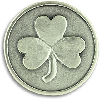 Gifts Catholic Inc Lot of 3! Shamrock 3 Three Leaf Clover Good Luck Pocket Token Charm Coin with Prayer Health Happiness