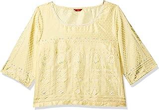 W for Woman Women's Rayon straight Salwar Suit Set (19FEWS12344-112538_ Yellow_ 12)