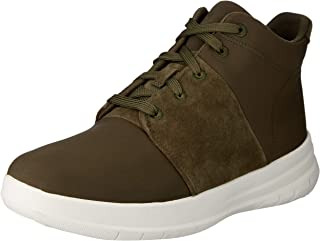FitFlop Womens Sporty-Pop X High-Top Sneakers,Dark Olive,9