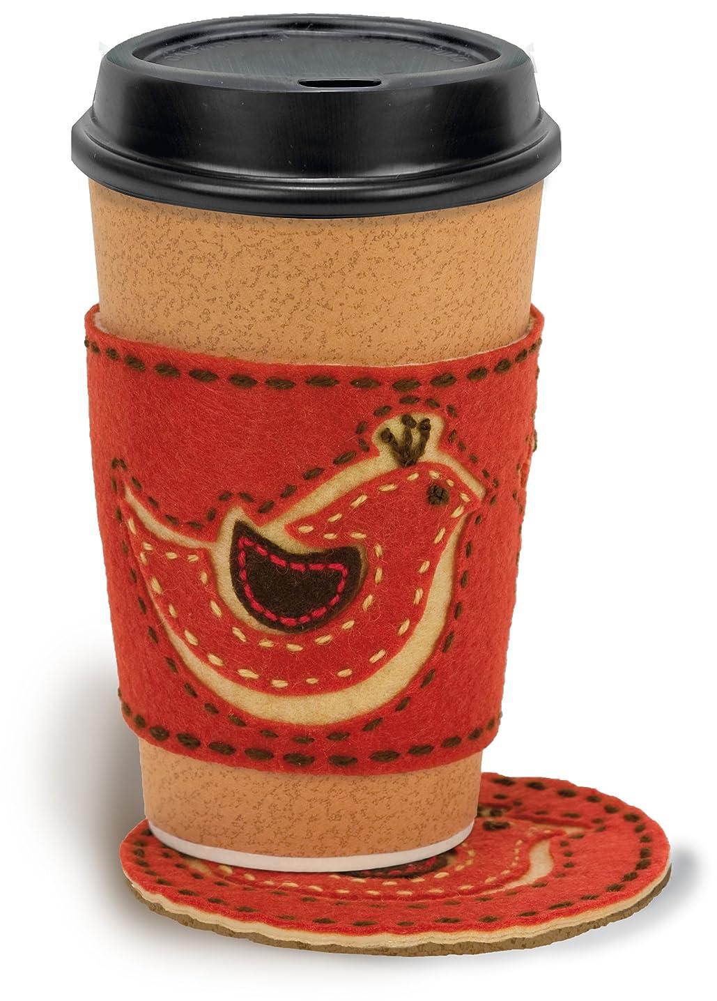 Dimensions Needlecrafts Handmade Embroidery, Bird Coffee Cozy and Coaster