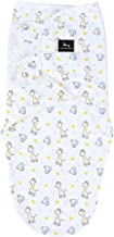 Swaddle Blanket Wrap by Moonlight Babies   Soft Cotton, Easy, Adjustable Baby Wrap for Newborn, Infant   0-3 Months   Giraffe and Elephant