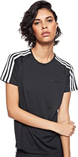 adidas Women's D2M 3S T-Shirt, Black/White
