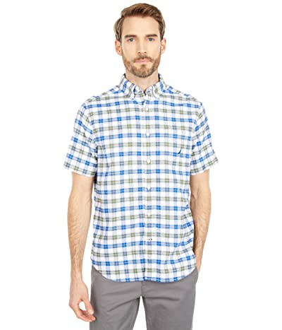Nautica Classic Fit Plaid Oxford Shirt (Convoy Green) Men