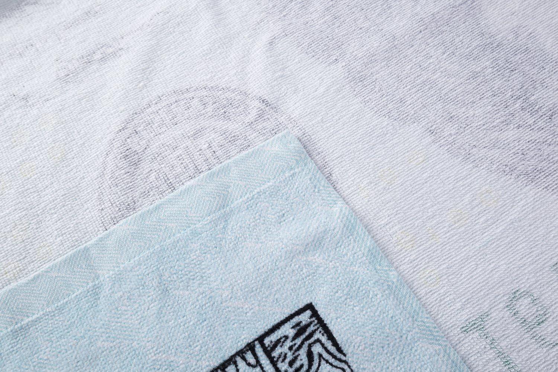 Soft Bath Towel for Pool Travel 300GSM Lightweight Swimming Beach Chair JYK Beach Towel Dollar Bill Quick Dry Towel 28x58-100/% Cotton