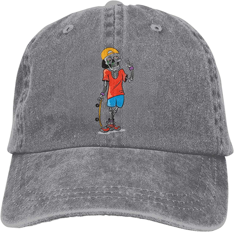 Macucop Skull Surfer Club Outdoor Sport Adjustable Hat Cowboy Cap Unisex Printed Hat