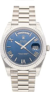 Rolex Day-Date Mechanical (Automatic) Blue Dial Mens Watch 228239 (Certified Pre-Owned)
