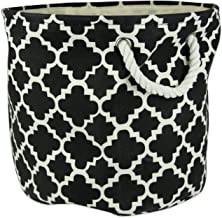 DII Collapsible Polyester Storage Basket or Bin with Durable Cotton Handles, Home Organizer Solution for Office, Bedroom, ...