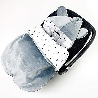 Saco de dormir para sillita de coche para bebé o asiento de coche Velvet (verano gris)