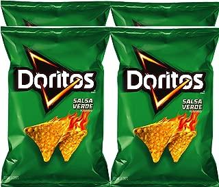 Doritos Salsa verde Flavored Tortilla Chips 9.75 oz Bags (4)