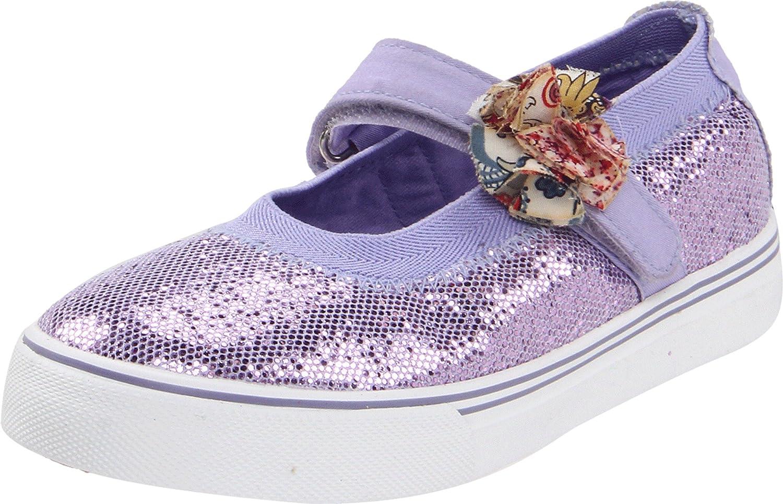 Morgan & Milo Kid's Sparkle Floral Mary Jane Sneaker (Toddler/Little Kid), Violet, 10 M US Toddler