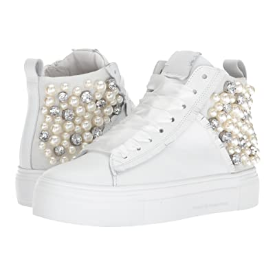 Kennel & Schmenger Big Pearly High Top (White Calf/Suede) Women