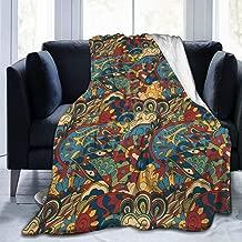 Delerain Ethnic Colorful Doodle Flannel Fleece Throw Blanket 50