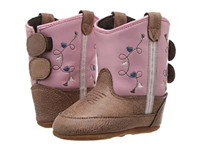 Old West Kids Boots Poppets (Infant/Toddler) (Tan Vintage) Cowboy Boots