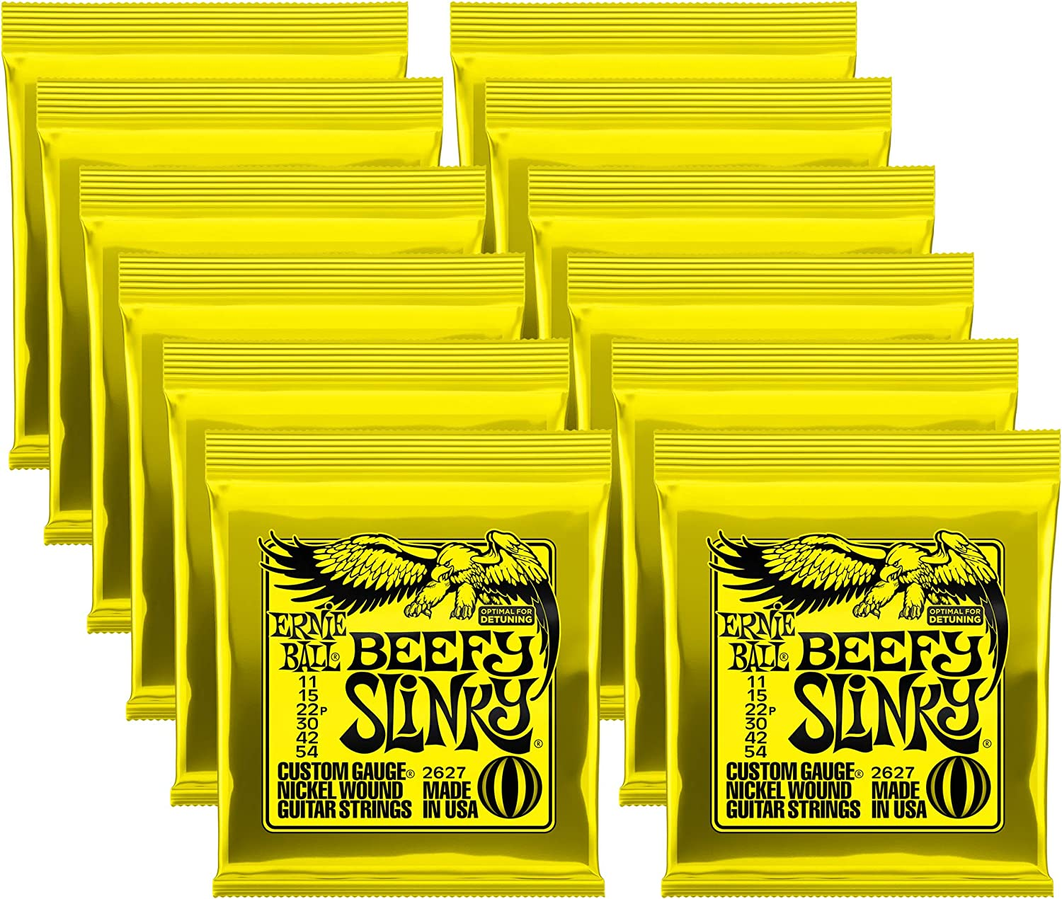 Ernie Ball outlet 2627 Beefy Slinky Ranking TOP3 Electric Pack Strings 12