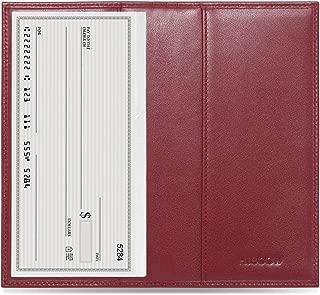 Minimalist Checkbook Cover - Full Grain Leather