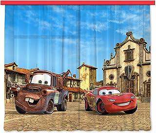 comprar comparacion AG Design FCS xl 4315 - Cortinas para habitación infantil, diseño de CARS