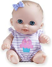 JC Toys Lil Cutesies All Vinyl Washable Doll Baby Doll, Blue Eyes Lulu