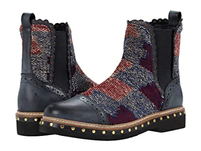 Free People Textile Atlas Chelsea Boot (Blue Combo) Women