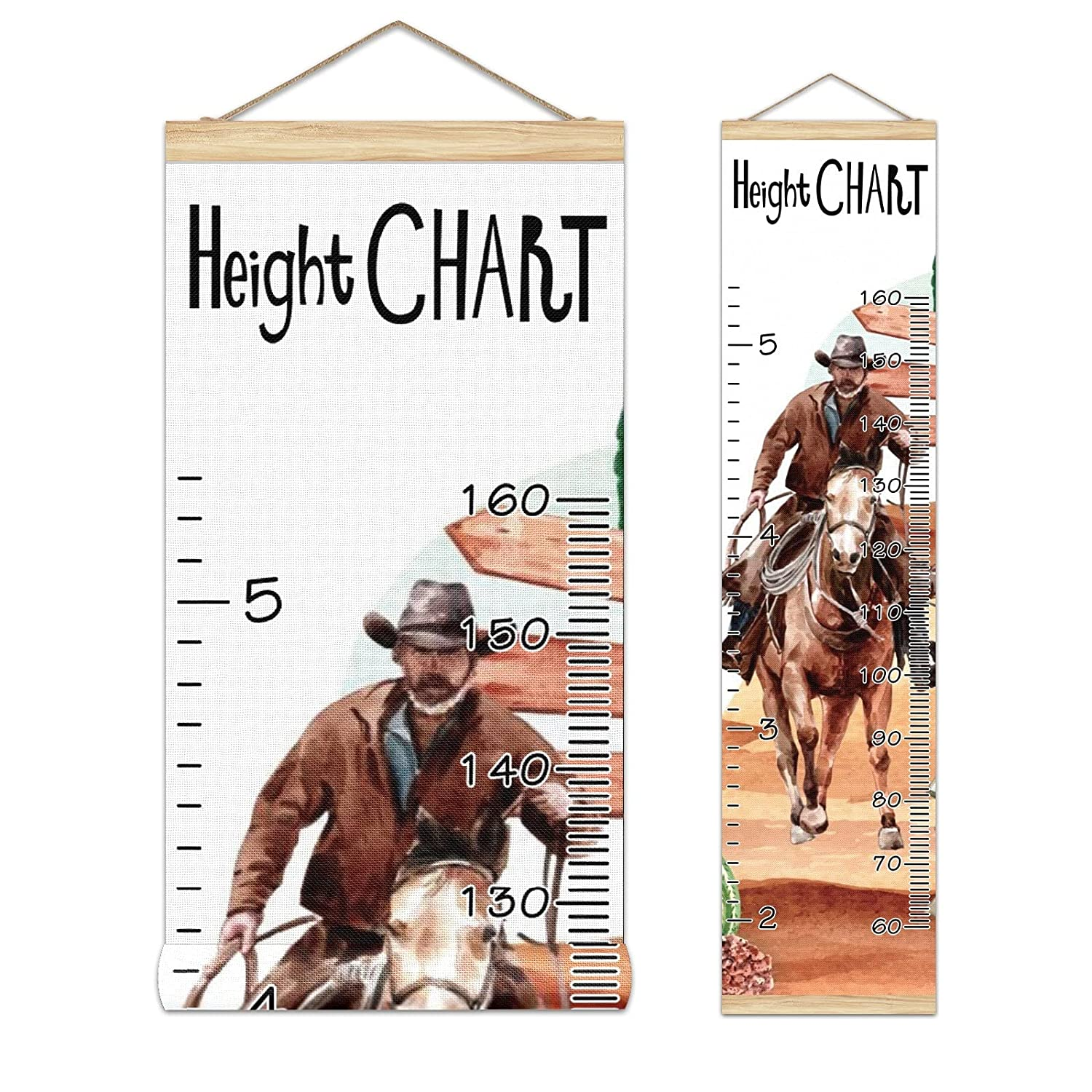Kids Growth Chart Ruler for Measure Outlet 100% quality warranty! sale feature Height Frame Wood Wall
