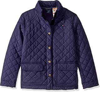 Tommy Hilfiger Girls' Adaptive Quilted Jacket with Magnetic Buttons