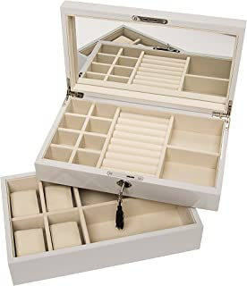 Brouk & Co Women's Stackable Lacquer Jewelry Box and Tray 12