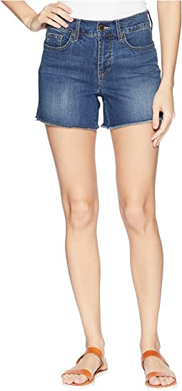 """NYDJ 4"""" Shorts w/ Fray Hem & Side Slit in Zimbali"""
