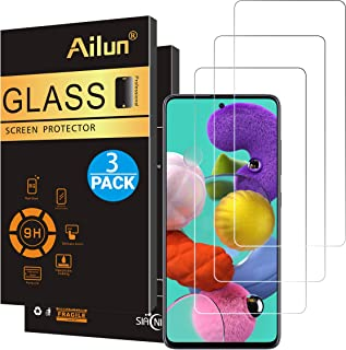AILUN Screen Protector Compatible with Galaxy A51,[3 Pack],Tempered Glass,Ultra Clear,Anti-Scratch,Case Friendly-Siania Retail Package