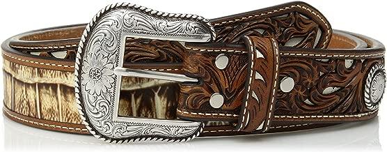 Nocona Belt Co. Men's Nocona Croc Print Billet Inlay Belt