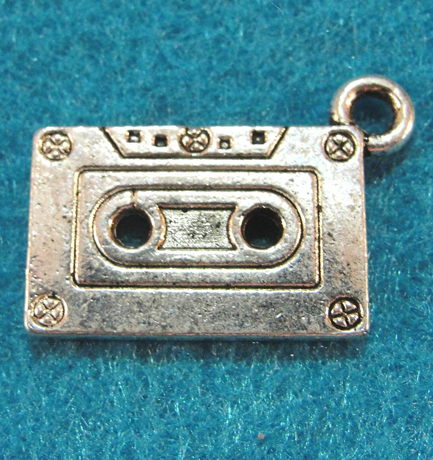 10Pcs. Tibetan Antique Silver Cassette Tapes mart Jewelry Charms Spasm price VHS