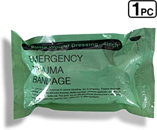 "4"" Israeli Bandage Vacuum Sterile Compression Bandages for Battle Wound Dressing Emergency Trauma, 1 Pack"