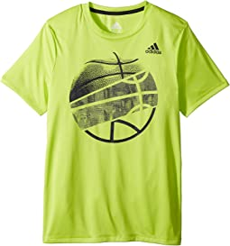 adidas Kids Hacked Sport Ball Tee (Big Kids)