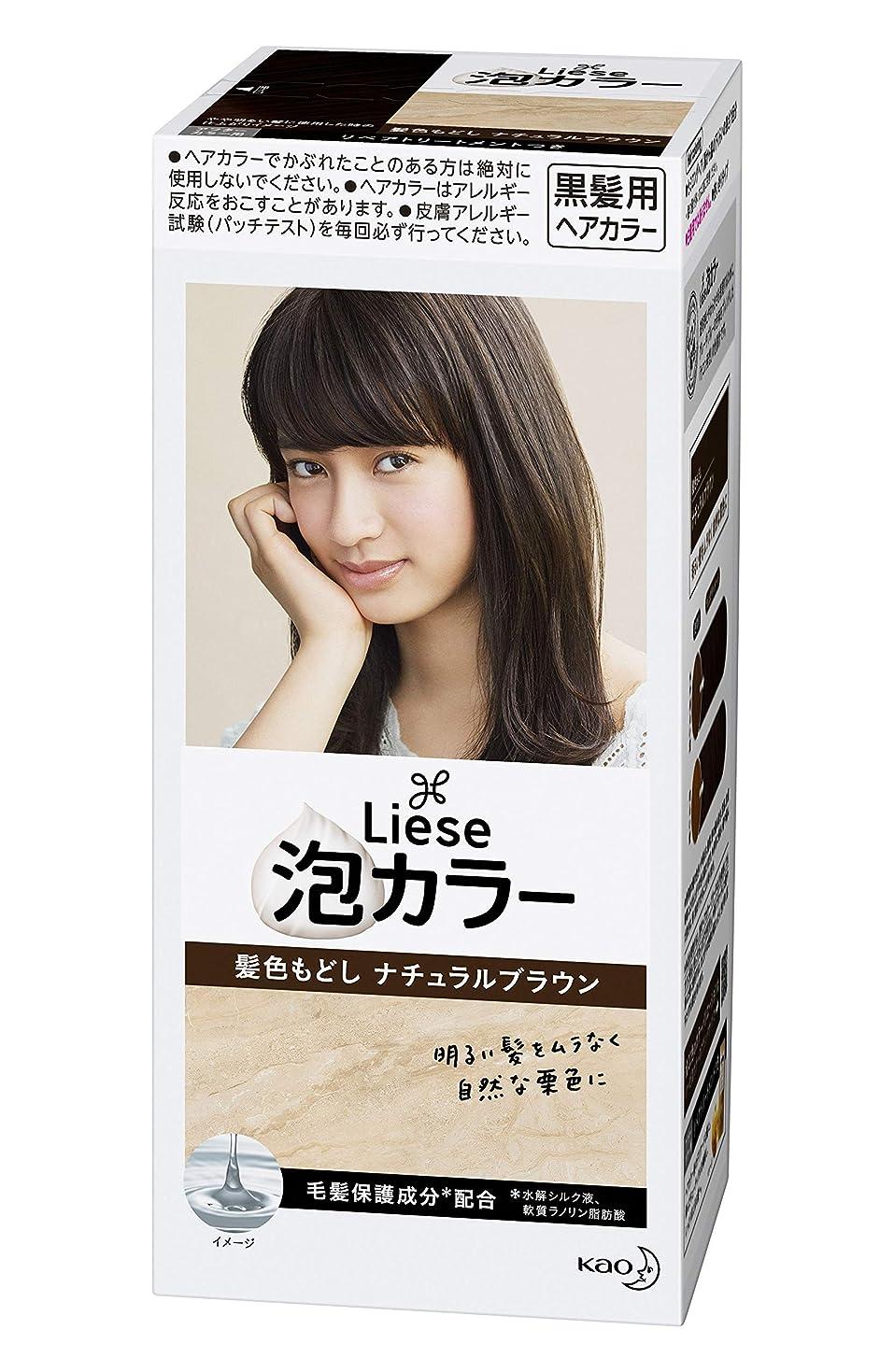 与える嫌い敏感なリーゼ プリティア 泡カラー 髪色もどしナチュラルブラウン 108ml