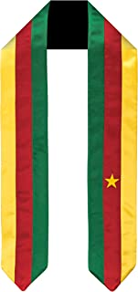 Cameroon Flag Graduation Sash/Stole International Study Abroad Adult Unisex