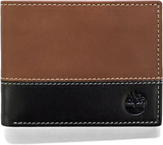 Timberland Men's Leather Passcase Wallet Trifold Wallet Hybrid