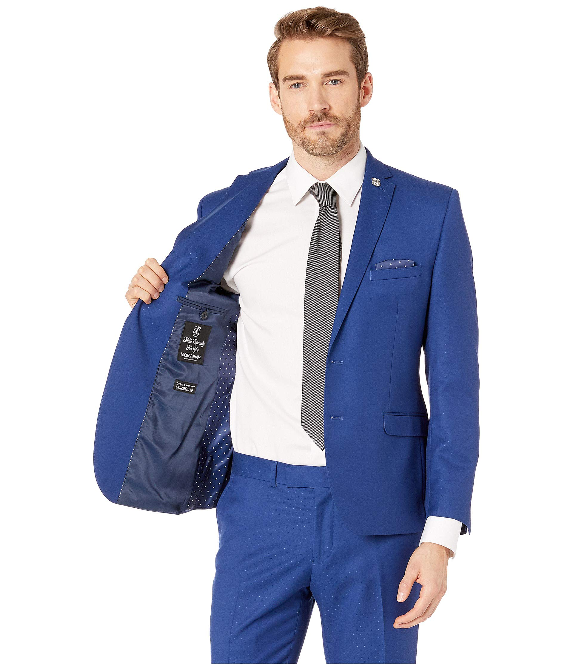 Graham Blue Pindot Nick Bright Suit 8qBqdw