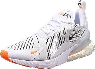 Nike Mens Air Max 270 Running Shoes White/Black/Total Orange AH8050-106 Size 11