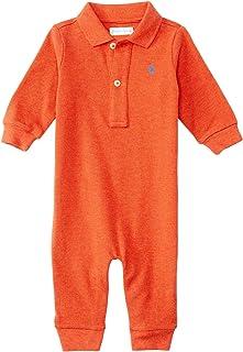 Ralph Lauren Baby Boys Cotton Mesh Polo L/S Coverall