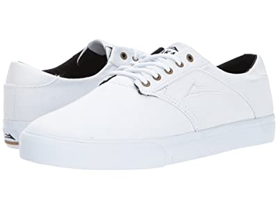 Lakai Porter (White/White Canvas) Men
