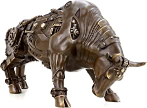 Kunst & Ambiente Contemporary Art - Steam Punk Bull - Bronze Bull - Martin Klein - Animal Bronze for Sale - Bull/Taurus - Bronze Animal Sculptures - Charging Bull Statue