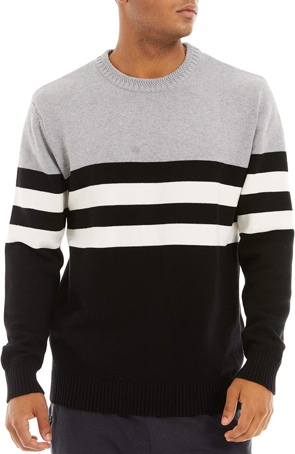 MAGCOMSEN Men's Crewneck Sweater Thermal Soldering Louisville-Jefferson County Mall Soft Sweatshirt Knitted