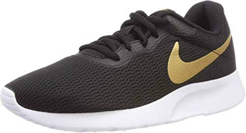 Nike Hausschuhe Tanjun schwarz Metallic Gold Weiß, Deporte Unisex Adulto