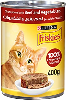 PURINA - FRISKIES Beef and Vegetables in Chunkpound Wet Cat Food 400g, 12450805-1