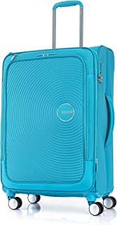 American Tourister Curio SS Hard Side Spinner Luggage, Turquoise, 69 Centimeters