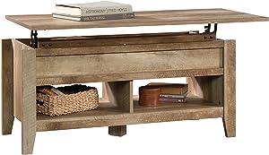 """Sauder 420011 Dakota Pass Lift-Top Coffee Table, L: 43.15"""" x W: 19.45"""" x H: 19.02"""", Craftsman Oak finish"""