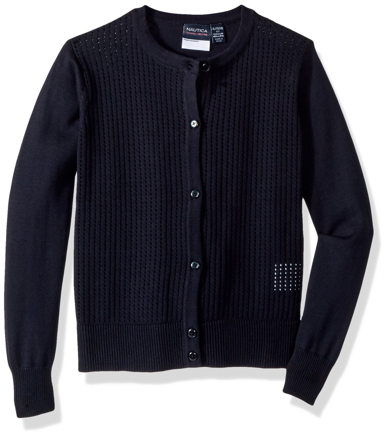Nautica Girls' School Uniform Cardigan Sweater