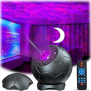 Lupantte Proyector de Luz Estelar, Lámpara Proyector con Aurora/Luna/Sonido Activado, Proyector LED de Luz con Efectos Relajantes para Dormitorio, Cine en Casa, Decoración de Habitaciones